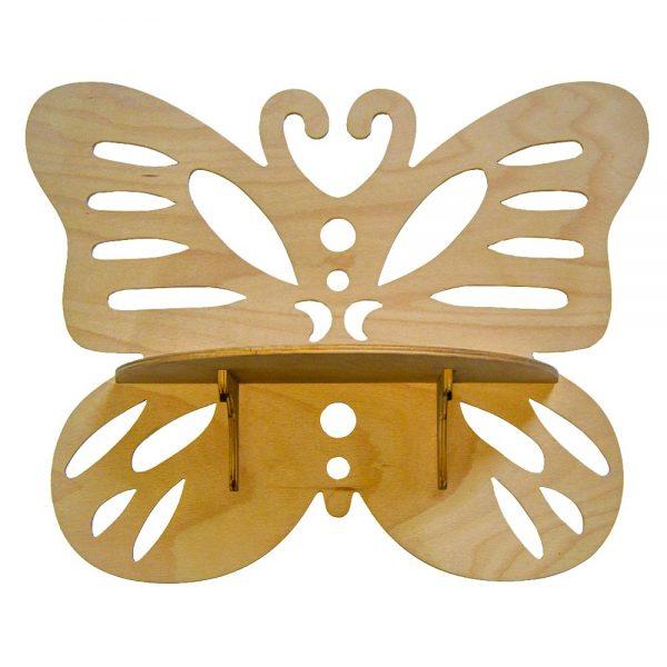 Výroba nábytku Novák - Dřevěná polička Motýl 2
