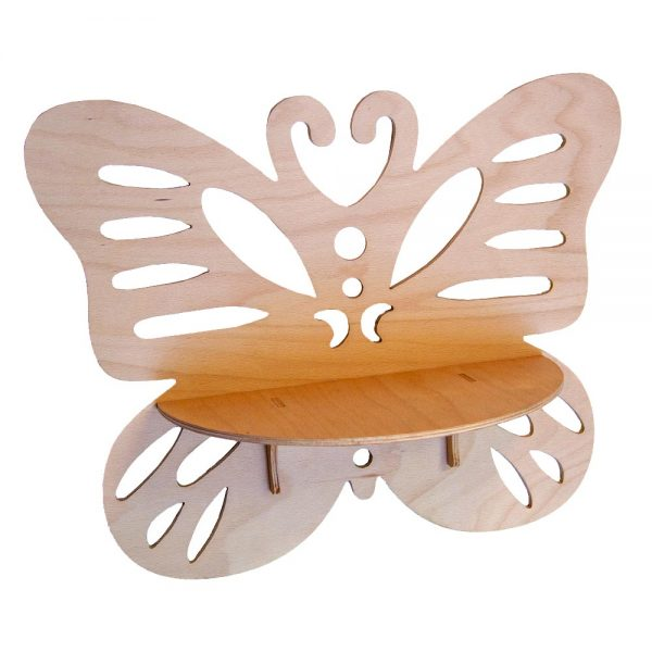 Výroba nábytku Novák - Dřevěná polička Motýl 1