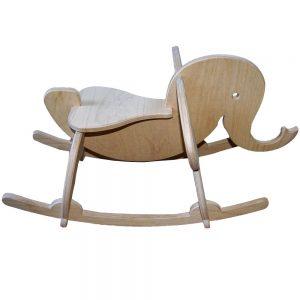 Výroba nábytku Novák - Dřevěný houpací slon 1
