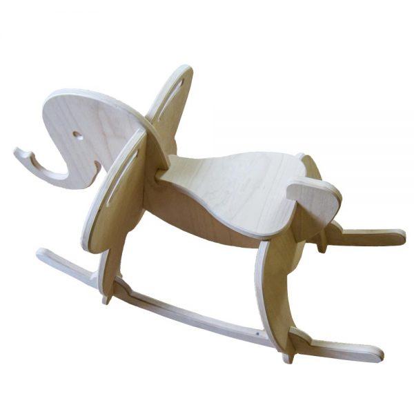 Výroba nábytku Novák - Dřevěný houpací slon 2