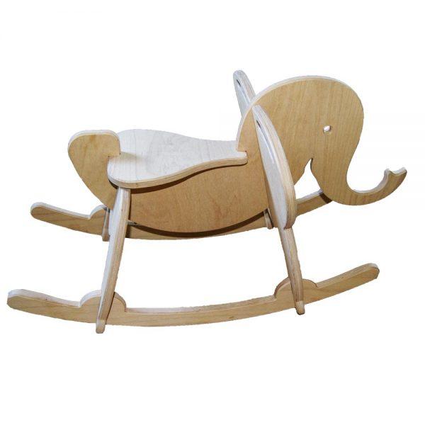 Výroba nábytku Novák - Dřevěný houpací slon 4
